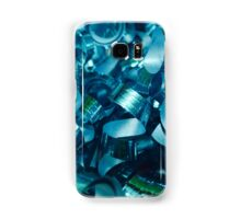 Teal Curly Ribbons Samsung Galaxy Case/Skin