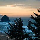 Haystack Rock at Dawn by Bryan D. Spellman