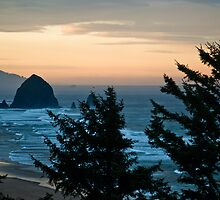 Haystack Rock at Dawn by Bryan D. Spellman