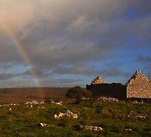 Church and Rainbow by Karin  Funke