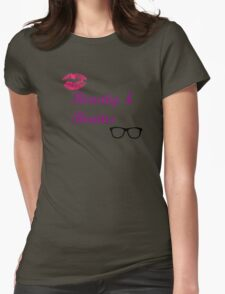 Beauty & Brains Womens Fitted T-Shirt