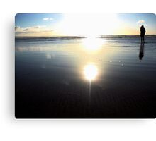 Girl in the sunset-cool Canvas Print