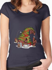 Utini Christmas Women's Fitted Scoop T-Shirt