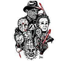 Horror Icons Photographic Print