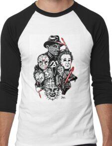 Horror Icons Men's Baseball ¾ T-Shirt