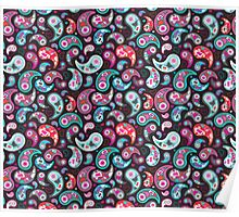Warm Floral Paisley  Poster