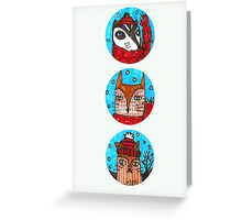 Christmas Animals (portrait) Greeting Card