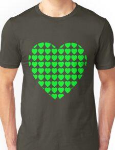 heart of hearts green Unisex T-Shirt