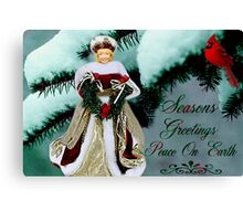 ♥ ˚ • ★ ˚SEASONS GREETINGS PEACE ON EARTH ♥ ˚ • ★ ˚ Canvas Print