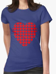 heart of hearts red Womens Fitted T-Shirt