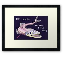 Creepy Fish Framed Print