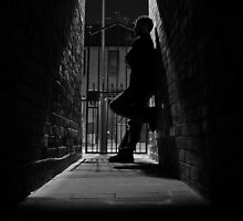 Stranger in a dark alley by Michiel Meyboom