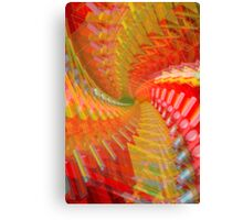 Abstract / Psychedelic Spiral Design Canvas Print
