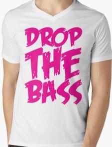 Drop The Bass (Pink) Mens V-Neck T-Shirt