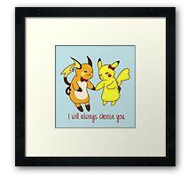 Pika Love Framed Print