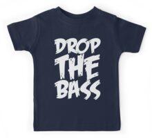 Drop The Bass (White) Kids Tee