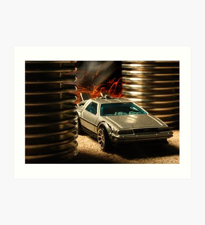 Hot Wheels DeLorean Art Print