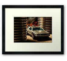 Hot Wheels DeLorean Framed Print