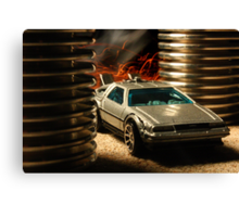 Hot Wheels DeLorean Canvas Print