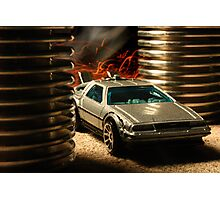 Hot Wheels DeLorean Photographic Print