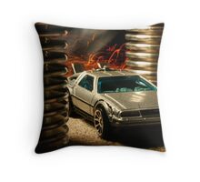 Hot Wheels DeLorean Throw Pillow