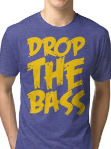 Drop The Bass (Mustard) Tri-blend T-Shirt