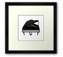 Grand Piano: Black Finish Framed Print