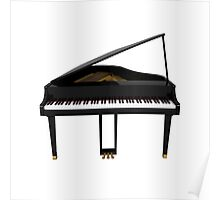 Grand Piano: Black Finish Poster