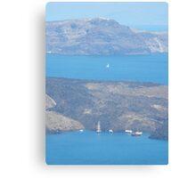 Santorini ocean: Greek Islands Magic Canvas Print