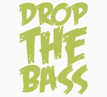 Drop The Bass (Light Neon) Kids Tee
