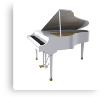 Grand Piano: White Finish Canvas Print