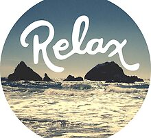 Relax Hipster Beach Typography Tumblr Boho Photo by Big Kidult