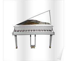 Grand Piano: White Finish Poster