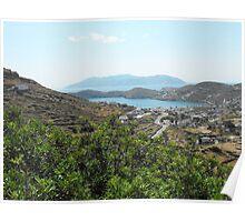 Santorini ocean: Greek Islands villages Poster