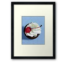 chocolate tart painting Framed Print