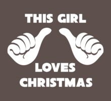 This Girl Loves Christmas Shirt Red Kids Clothes
