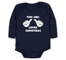 This Girl Loves Christmas Shirt Red One Piece - Long Sleeve