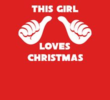 This Girl Loves Christmas Shirt Red Womens Fitted T-Shirt