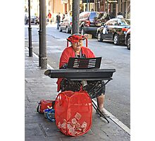 The Woman in Red Plays Photographic Print