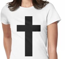 Cross (Faithful to God) Womens Fitted T-Shirt