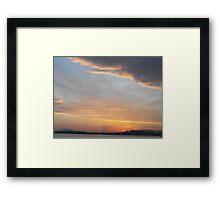 Athens, Greece: Sunset sky Framed Print