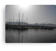 Athens port at dusk, Greece Canvas Print