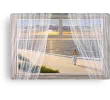 MORNING WALK by Diane Romanello Canvas Print