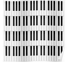Piano / Keyboard Keys Poster