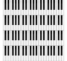 Piano / Keyboard Keys Photographic Print