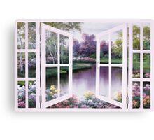 SPRINGTIME SYMPHONY WINDOW by Diane Romanello Canvas Print