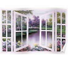 SPRINGTIME SYMPHONY WINDOW by Diane Romanello Poster