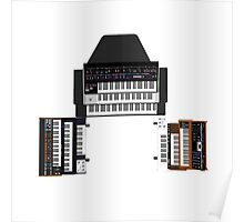 Vintage Synthesizers / Keyboards Poster