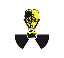 nuclear logo sign symbol toxic radioactive atomic bomb fallout gas mask cool design 1 filter Photographic Print