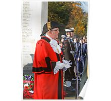 Remembrance Service Orpington Kent, The Deputy Mayor of Bromley Ian Payne Poster